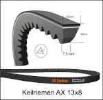 Keilriemen X13 x 585 Li  gezahnt AX 23