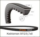 XPZ 512  Lw | Schmalkeilriemen, gezahnt